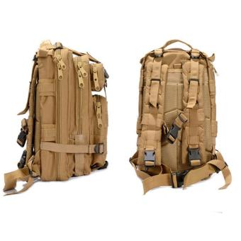 360WISH Outdoor Sports Multifunctional Unisex Tactical Military 3P Backpack for Mountain Climbing Camping Hiking Trekking Riding - Mud Color - intl Price Philippines