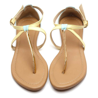 Harga HDY Marie Flats Sandals (Yellow)