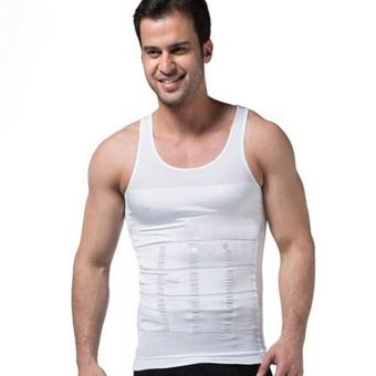 Harga Fashion hot Men Slimming Corset Body Shaper Shirt Vest Tank White - intl