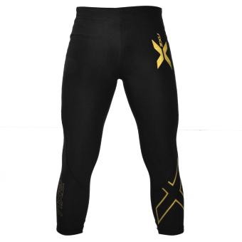 Compression Pants Muscle Containment Stamping 3/4 Compression Tights (Yellow) Price Philippines