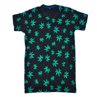 Leaf Seamless Prints T-Shirt (Black) Price Philippines