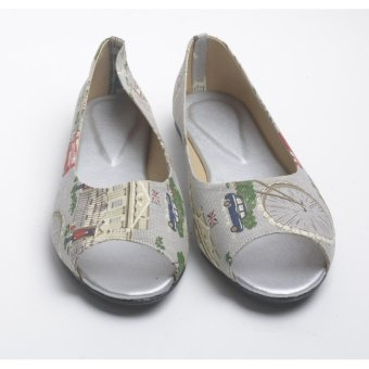 Harga Doll Me Up Shoes Celina's Open Flats With Design (Grey)