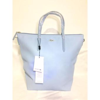 LACOSTE WOMEN'S L.12.12 CONCEPT VERTICAL TOTE BAG SKY BLUE Price Philippines
