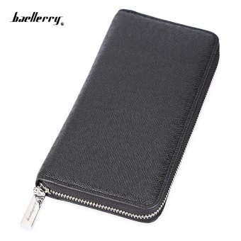 Baellerry Fashion Men Folding Hardware Zipper Long Card Money Cell Phone Wallet - intl Price Philippines