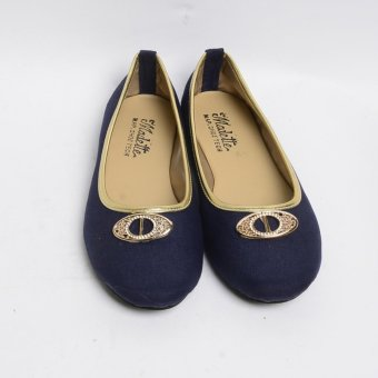 Harga Doll Me Up Shoes Velvet's Flats With Design (Prussian)(US:9)(OVERSEAS)
