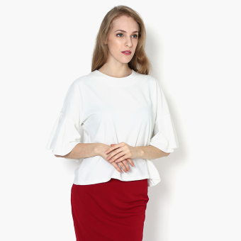 Harga SM Woman Flared Sleeve Boxy Top (White)