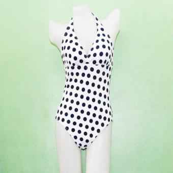Ladies Swimsuit Swimwear Dotted One Piece Price Philippines