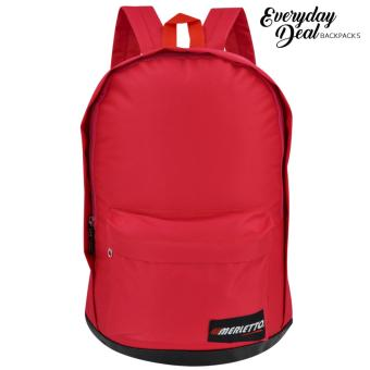 Harga Everyday Deal Merletto Fashion School Backpack (Red)