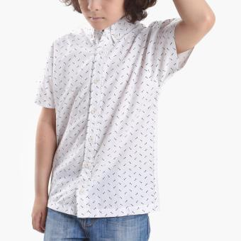 BGS Boys Arrow Allover Casual Shirt (White) Price Philippines