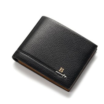 Baellerry Men Wallets Casual PU Leather Short Wallet Driver's License Wallet - Black - intl Price Philippines