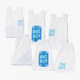 Harga SM Basic Boys 6-piece Big Boy Tank and Shorts Set (L)