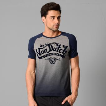 Von Dutch S/S Raglan Top (Dk Heather Gray) Price Philippines