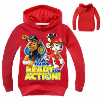 HengSong Paw Patrol Kids Children Sweater Shirt Long Sleeve Sweater Pullover Red - intl Price Philippines