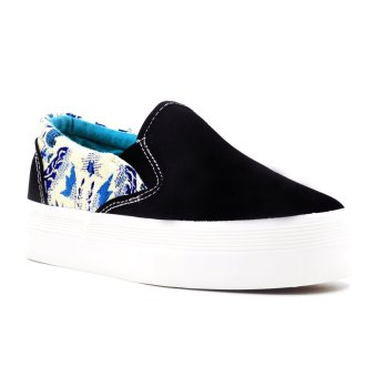 New York Sneakers Quinn Flatform Shoes (Black) Price Philippines