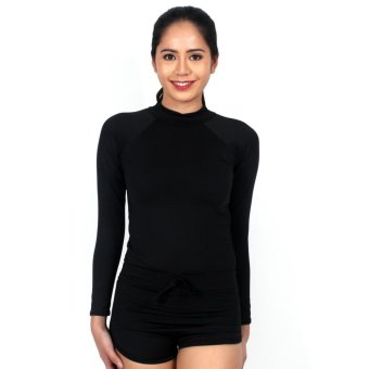 Island Paradise Rash Guard for Women (Black) Price Philippines