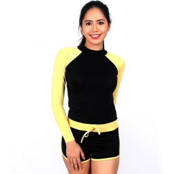 Island Paradise Rash Guard for Women (Yellow) Price Philippines