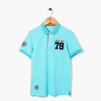 Harga jusTees Boys Best Boy 79 Pique Polo Shirt (Light Blue)