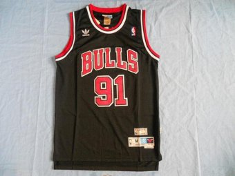 Harga NBA Retro Chicago Bulls Dennis Rodman NO.91 Mens Basketball Jersey Game High Quality Comfortable Nice Breathable Sports Black - intl
