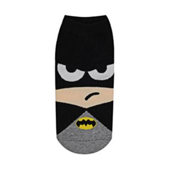 2017 New Fashion 7 pairs Iron Batman Superman SpiderMan Captain America cartoon ankle funny socks (black) - intl Price Philippines