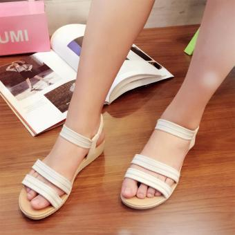 Fantasy Mini Wedge Sandals With Garter Strap 2728 (White) Price Philippines