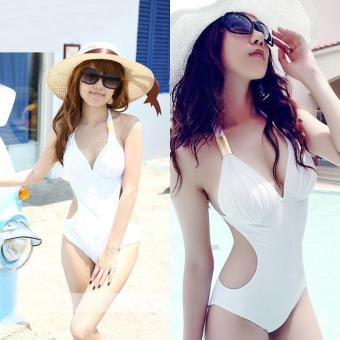 360WISH Triangle Push Up One Piece Monokini Female Swimsuit White-L - intl Price Philippines