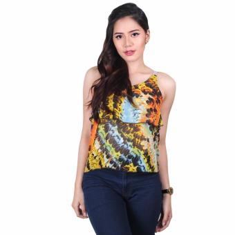 Harga Meldy Printed Layered Spaghetti Top