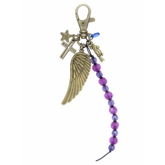Patrick Lovebird Star Cross Angel Wing Beads Parrot Jewel Bag Charm Key Chain (Antique Bronze) Price Philippines