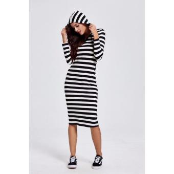SD2 Stripe Cotton Hooded Dress Price Philippines