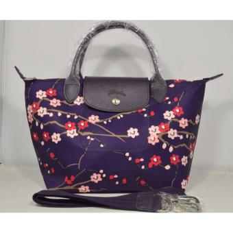 Harga LC LE PLIAGE NEO FANTAISIE SAKURA MEDIUM BILBERRY SHORT HANDLE LONGCHAMP