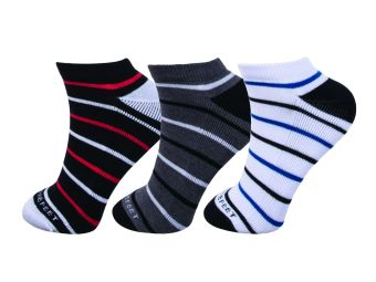 Harga FORBAREFEET Sports Socks Anklet Striped Pack of 3 (Assorted Colors)