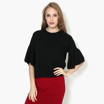 Harga SM Woman Flared Sleeve Boxy Top (Black)