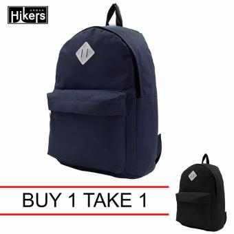 Harga Urban Hikers Lash Tab Casual Backpack (Navy Blue) Buy 1 Take 1 (color may vary)