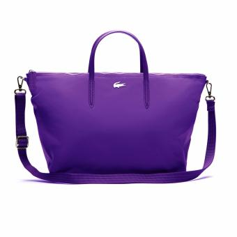 Lacoste L.12.12 Concept Nylon Zippered Tote Bag - Horizontal (Purple) Price Philippines