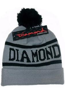 Hang-Qiao Winter Warm Diamond Supply Co Beanie Hat Popular Knitted Cap Grey Price Philippines