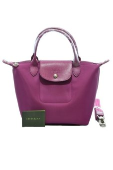 Harga Longchamp Le Pliage Neo Small Short Handle Bag (Hydrangea)