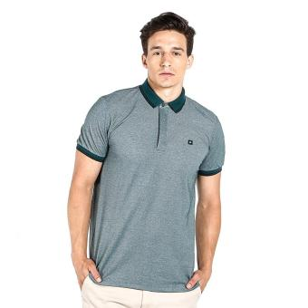 Harga Penshoppe Semi Fit Polo Shirt With Tipping (Forest Green)