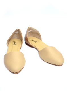 Harga Ohrelle Roxy D'Orsay Pointed Flats (Beige)
