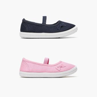 Harga Sugar Kids 2-pairs Shana Pink and Navy Girls Mary Jane Flats (Size C8)
