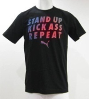 Harga PUMA Slogan Tee (Cotton Black)