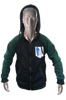 Attack on Titan Scouting Legion Varsity Jacket Small (Black/Green) Price Philippines