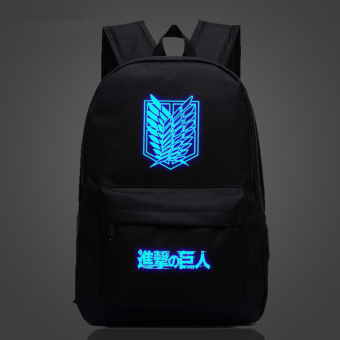 Attack on Titan Wings of Liberty soldiers long Noctilucent backpack schoolbag Price Philippines