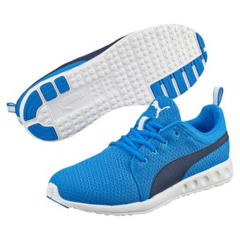 Harga Puma Carson Mesh Men's Running Shoes (Electric Blue Lemonade/Peacoat)