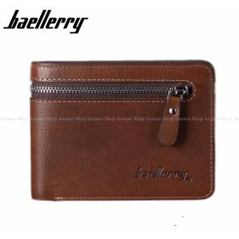 Baellerry Men Fashion Genuine Leather Bifold Zipper Wallet Brown Price Philippines
