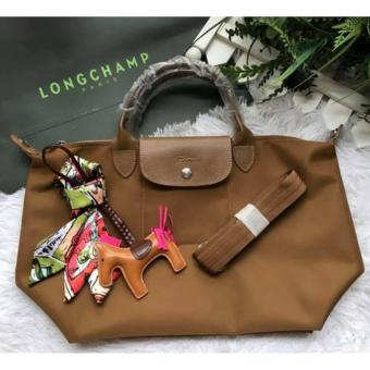 Harga LC Le Pliage Neo Small Free Twilly & Charm Original (BRONZE) Made in France SHORT HANDLE