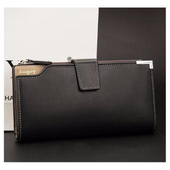 Baellery 1283 Multi-function Mens Wallet Soft Leather Clutch Purse (Black) Price Philippines