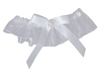 Bow Wedding Garter Satin Toss (White) Price Philippines