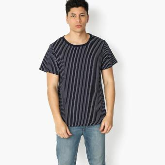 Harga Tank Teens Oversized Striped Tee (Navy)