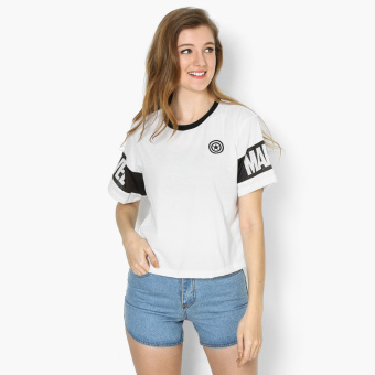 Harga Marvel Mesh Sleeves Teens Boxy Top (White)