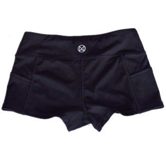 Harga LALANG Hot Women Running Shorts Breathable Sport Short Pants (Black)