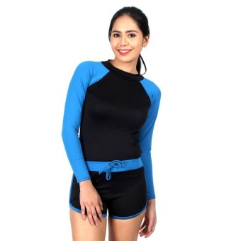 Island Paradise Rash Guard for Women (Light Blue) Price Philippines